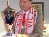 Bürgermeister Jan Erik Bohling gibt sich als VfL-Fan.