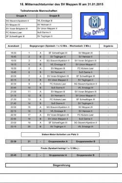 Spielplan Mitternachtsturnier Quelle: SVM III
